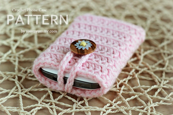 Crochet pattern crocheted cell phone cover pattern no 019 crochet pattern crocheted cell phone cover pattern no 019 instant digital download dt1010fo