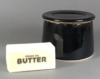 Black, French Butter Dish, Butter Crock, Butter Bell, French Butter Keeper