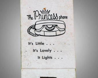 Bell Princess Telephone advertising sewing kit in matchbook form