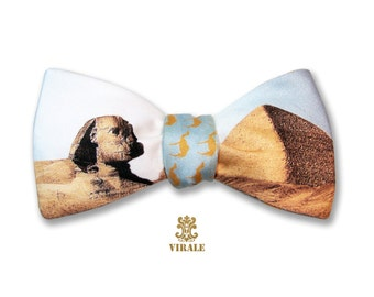 Virale by Dr. B. Camel Humpday Bow Tie- Egypt Sphinx Pyramid Wednesday Hump Day Bowtie