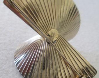 Napier Sterling Silver Fan Brooch