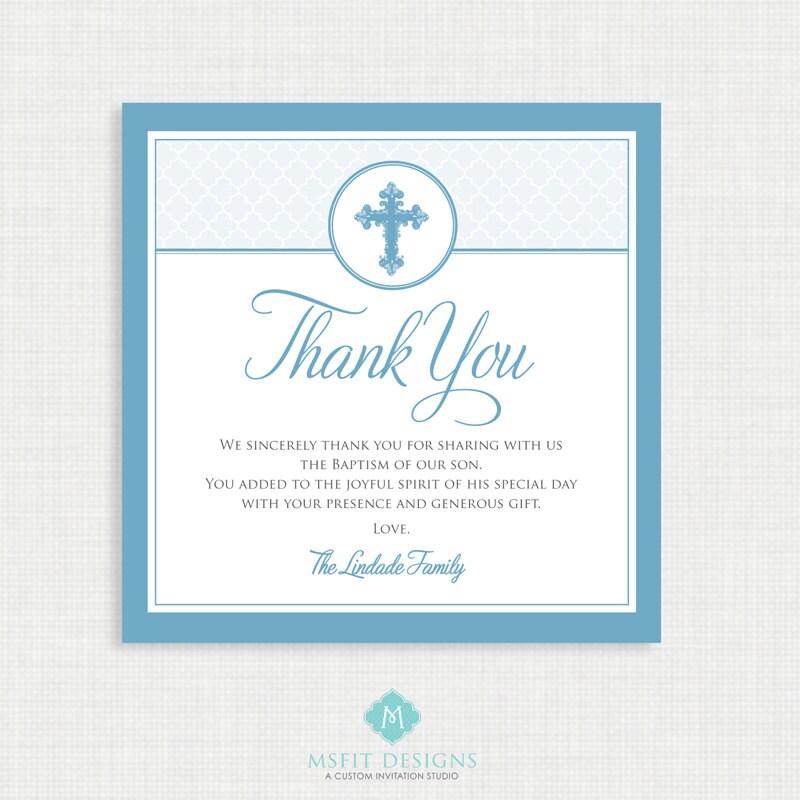 Printable baptism thank you card diy printable thank you zoom negle Choice Image