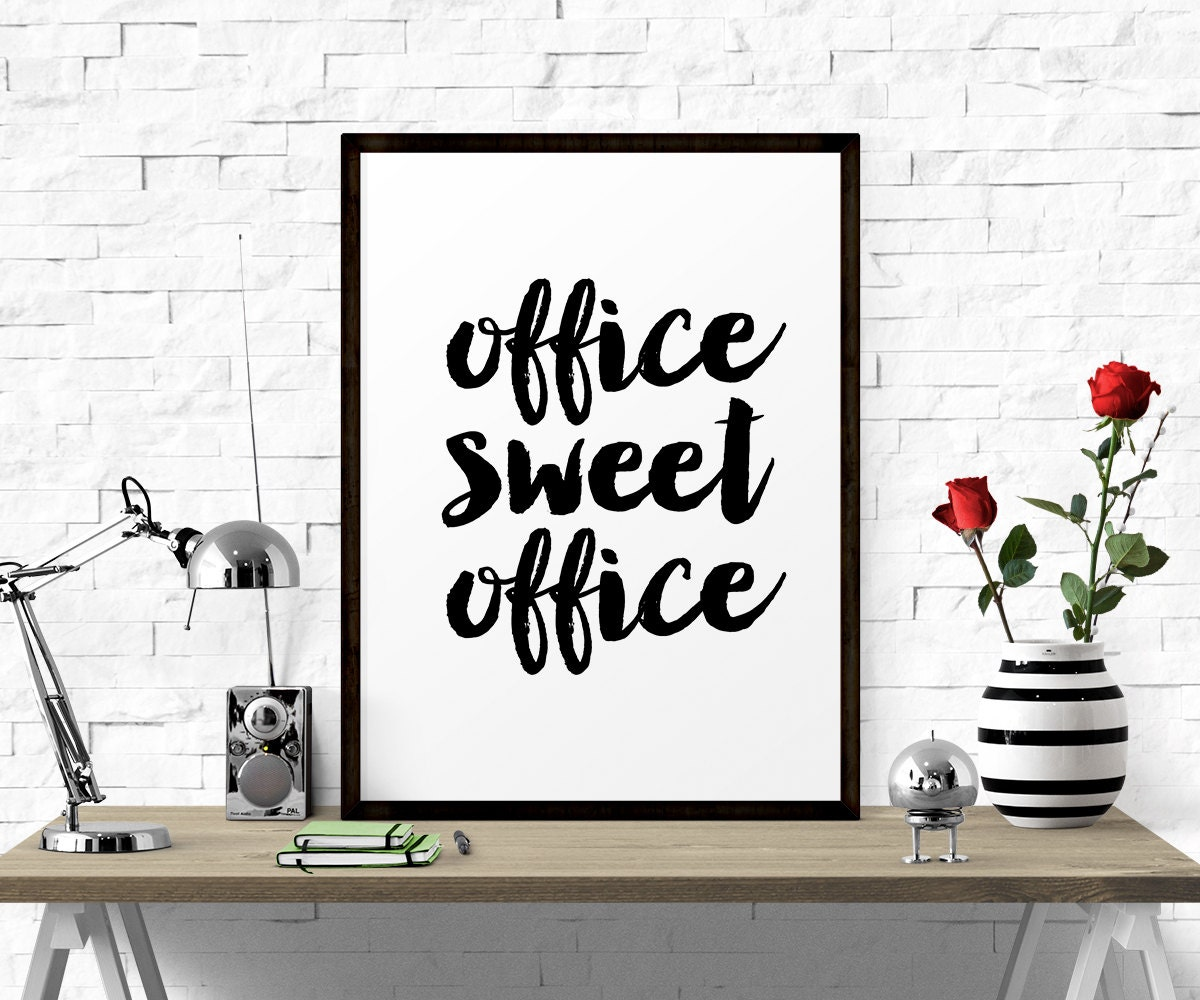 zoom Typography Poster Office Sweet Office Printable