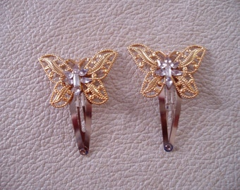 Sparkling Butterfly /hair clips