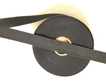 Black Elastic 1 Inch Sewing Supplies Bags Belts DIY Elastic Waistband 0155