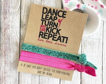 Dance Team Gift, Dance Team, Dance Party Favors, Dance Bracelet, Dance Wish Bracelet, Hair Ties, Dance Team