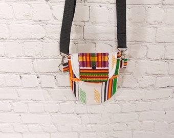 Colorful  smartphone crossbody bag,  crossbody purse, Crossbody satchel, ,  passport purse and small everyday purse.