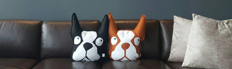 Boston Terrier Pillow Felt Dog Nursery Decor Baby Gift Gorgeous Boston Terrier Decorative Pillow