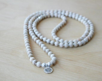 Birch and Maple 6mm Lotus Mala
