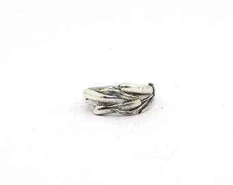 Cattail Prosperity Ring, Peace Symbol Ring, Appreciation Ring, Sterling  Ring, Cattail Ring