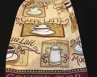 Coffee Shop Single Sided Kitchen Hand Towel Tan 1