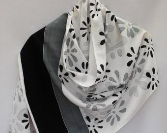 Painted scarf, batik scarf, hand painted scarf, batik decor, Spring Summer scarf, lightweight scarf, art scarf, cotton shawl, batik shawl