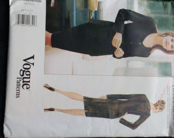 Vogue Donna Karan Jacket Skirt Plus Size Pattern 1705