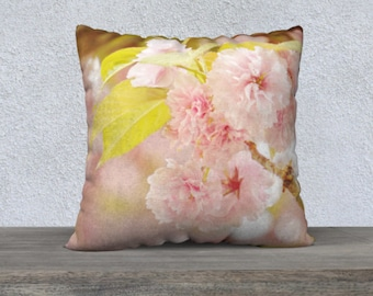 Pillow Covers 18x18 22x22 | Pink Pillow Cases | Boho Decor Pillow | Pink Floral Print | Decorative Throw Pillow Covers | Shabby Chic Decor