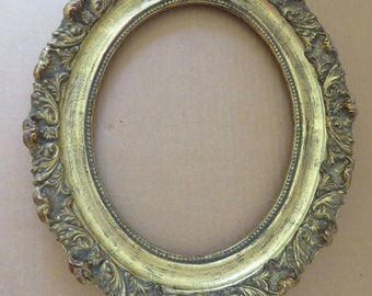 Antique Gessoed Oval Mirror