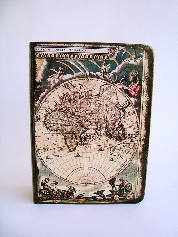 Antique world map old vintage map decorative map box world antique world map old vintage map decorative map box world map vintage look table decor old world map desk organizer storage box gumiabroncs Image collections