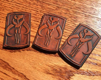 Mandalorian inspired Pin! Leather