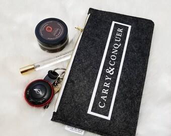 Felt wool zipper pouch | Carry & Conquer