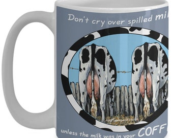 Cow Lover Mug, Cow Coffee Cup, Moo, Milk Cow, Holstein, Black & White spots, Dairy Farm, Gift for Cow Lovers, Cow Spot, Set, Original art