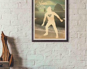 20% OFF!! The Goonies Movie Poster - The Goonies Print Vintage Style Magazine Retro Print Cinema Studio Watercolor Background