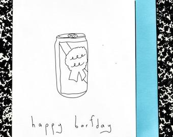 Handmade Card - Happy Barfday