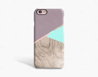Gift For Her, iPhone 8 Case Wood PRINT, iPhone 7 Case Cute, iPhone 8 Case Protective, Mint iPhone Case, Purple iPhone 8 Case