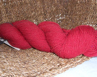 Red DK weight- border leicester yarn-100% wool