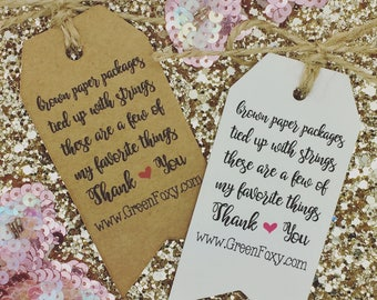 Thank You Order For Your Tags / Cards, Business Compliment Slips, Packaging Labels, Personalised