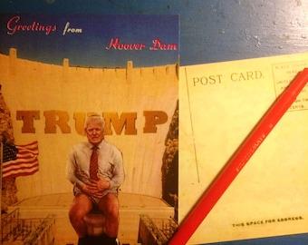 Trump's Throne ~ postcard
