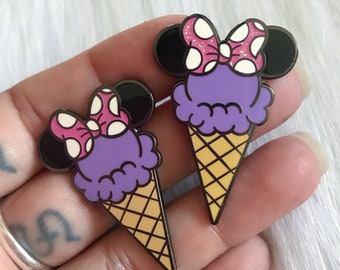 MinnieCone - Purple - Enamel Pin