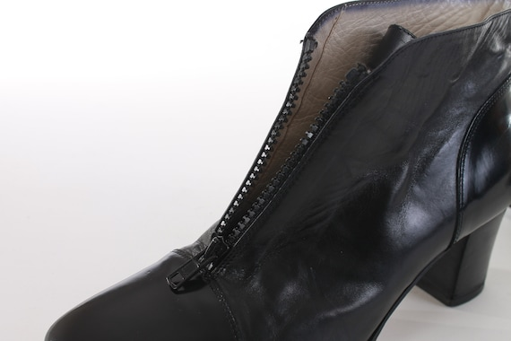 5 Women's Size Italy Ankle UK5 Patent Chelsea 7 Block Heel Boots US 6 in Black Bally Booties Minimalist Leather Vintage Made Boots 8 5 8 qFaggT