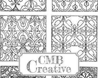 vintage coloring pages etsy - photo#14