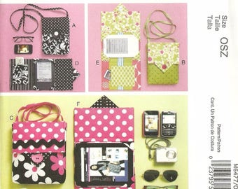 McCalls 6477 Ipad Kindle E-Reader Case Cover Sewing Pattern With Strap