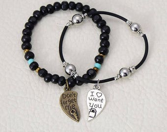 Lock And Key Bracelet Set For Couples
