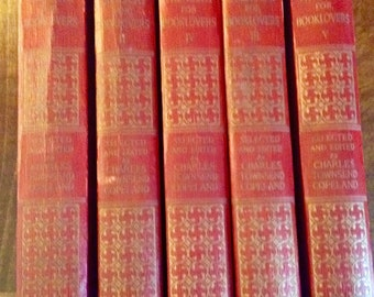 Rare Books COPELAND'S TREASURY for Book Lovers by Charles T. Copeland, Full Five (5) Volumes
