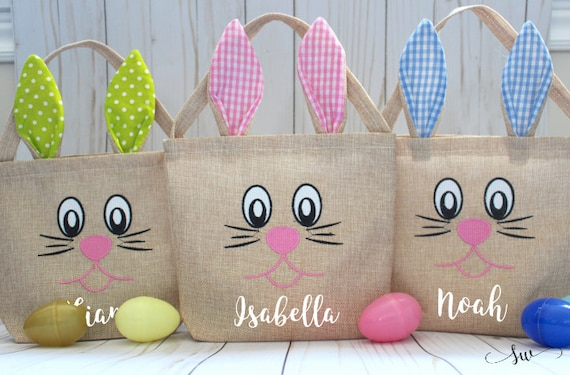 Easter bag easter basket personalized easter bag custom like this item negle Choice Image