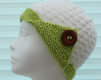 Instant download knitted ladies  beanie knitting pattern, Beanie, cap UK & USA Terms KP398
