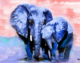 elephant watercolor watercolor painting elephant painting painting watercolor art animal painting elephant print elephant watercolor print
