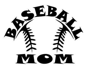 Baseball Mom, Dad, Grandma, Grandpa Decals - 2 for the Price of 1