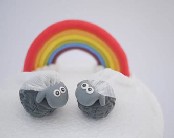 Black Sheep Lesbian Wedding Cake Topper (With or Without Rainbow)