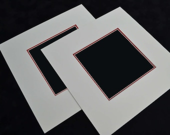 """9"""" x 9"""" Picture Mount to fit 5"""" x 5"""" (Pack of 2)"""