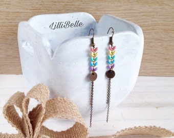 Earrings long chain ear - chic bohemian jewelry