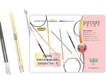 Knitter's Pride Comby Sampler Long Tip Interchangeable Knitting Set Version 2