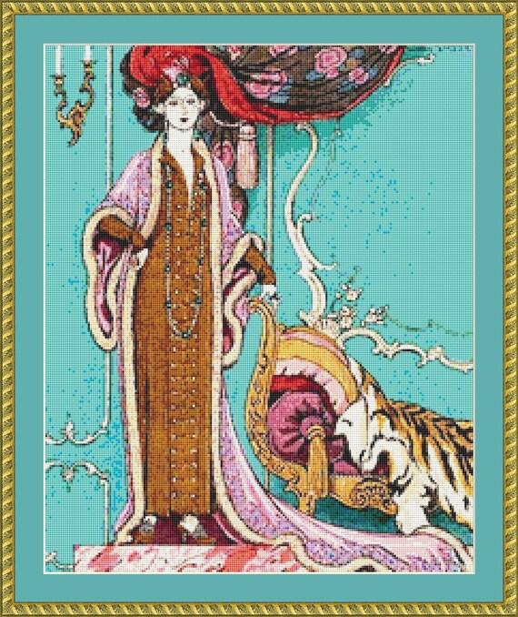 Manon Fille Galante Cross Stitch Pattern /Digital PDF Files /Instant downloadable