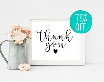 Thank You Sign, Thank You, Thank You Card, Thank You Wedding, Thank You Gifts, Thank You Tags, Thank You Cards, Wedding Sign, Thanksgiving
