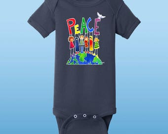 "Peace On Earth Bodysuit/""onsie"""