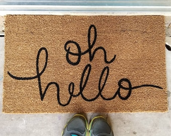 Oh Hello Doormat Custom Welcome Mat