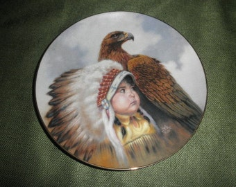 """Perillo Porcelain Plate """"Protector of the Plains"""" 1989"""