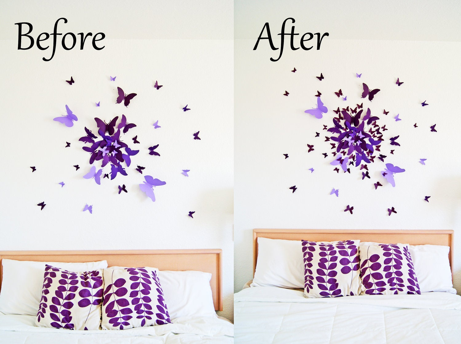 ?zoom  sc 1 st  Etsy & EXTRA 40 small 3D Butterfly Wall Art Circle Burst