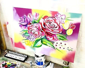 Custom floral painting